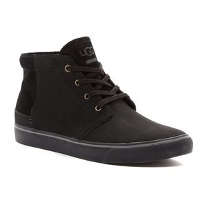 UGG Colin Black High Top Leather Suede Sneakers